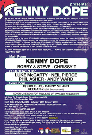 Soul Heaven Back 2002 ministry of sound